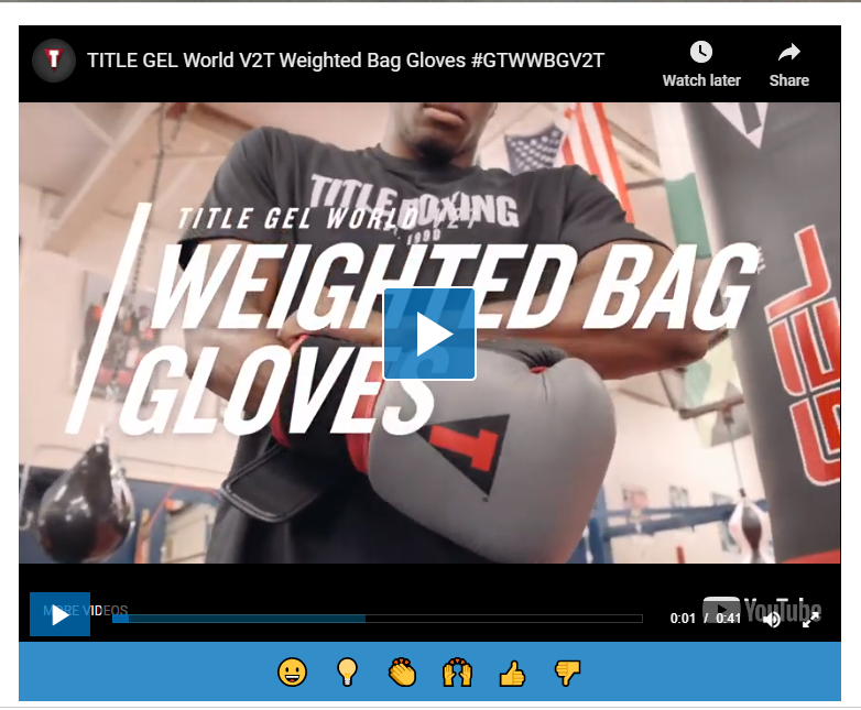 Title Boxing Gloves - Best heavy bag gloves